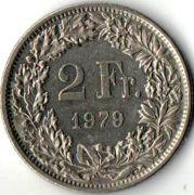 2 франка. 1979 год.