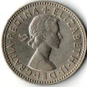 1 шиллинг.  1955 год.