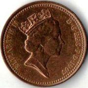 1 пенни. 1997 год.
