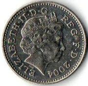 10 пенсов. 2004 год.
