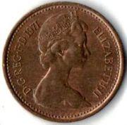 1/2 нового пенни. 1971 год.