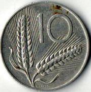 10 лир. 1973 год. Италия.