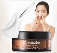 CIRACLE PORE CONTROL BLACKHEAD OFF SHEET 30шт./45мл - салфетки для глубокого очищения пор