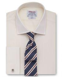 Мужская рубашка под запонки цвета шампань T.M.Lewin приталенная Slim Fit (48344)
