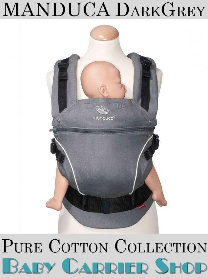 Слинг-рюкзак MANDUCA Baby And Child Carrier Эргорюкзак для переноски малышей «DarkGrey PureCotton» [Мандука слингорюкзак Серый]