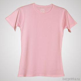 Женская розовая футболка стрейч без рисунка MODERN