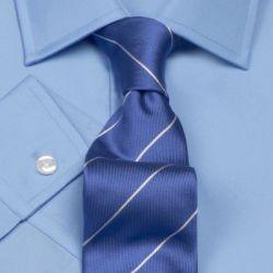 Мужская рубашка синяя T.M.Lewin приталенная Fully Fitted (40440)