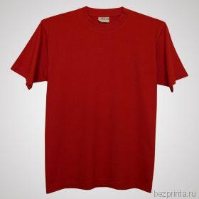 Мужская красная футболка без рисунка NOVIC
