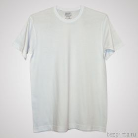 Мужская белая футболка без рисунка MODERN