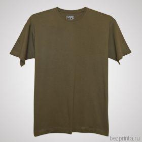 Мужская оливковая футболка без рисунка MODERN