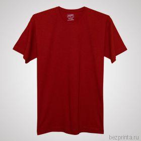 Мужская красная футболка без рисунка MODERN