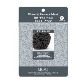 MJ CARE Essence Mask -Charcoal- маска тканевая древесный уголь .