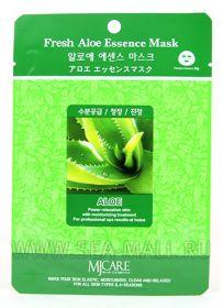 MJ CARE Fresh Aloe Essence Mask-Тканевая маска алоэ вера.