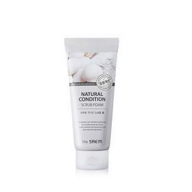 THE SAEM NATURAL CONDITION SCRUB FOAM 150ml - пенка-скраб для очищения жирной кожи лица