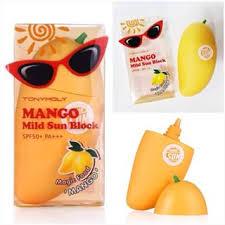 TonyMoly magic food mango mild sun block 45g - Мягкий солнцезащитный крем SPF50+ РА+++