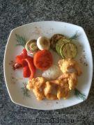 креветки темпура с овощами гриль