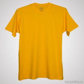 Мужская желтая футболка без рисунка MODERN