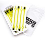 Cиликоновые шнурки для обуви Hilaces цвет Желтый/Черный в упаковке