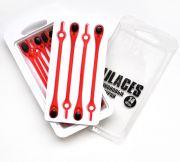 Cиликоновые шнурки для обуви Hilaces цвет Красный/Черный в раскрытой упаковке