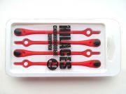 Cиликоновые шнурки для обуви Hilaces цвет Красный/Черный