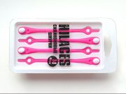 Cиликоновые шнурки для обуви Hilaces цвет Розовый/Белый