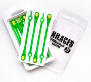 Cиликоновые шнурки для обуви Hilaces цвет Лайм/Желтый в раскрытой упаковке