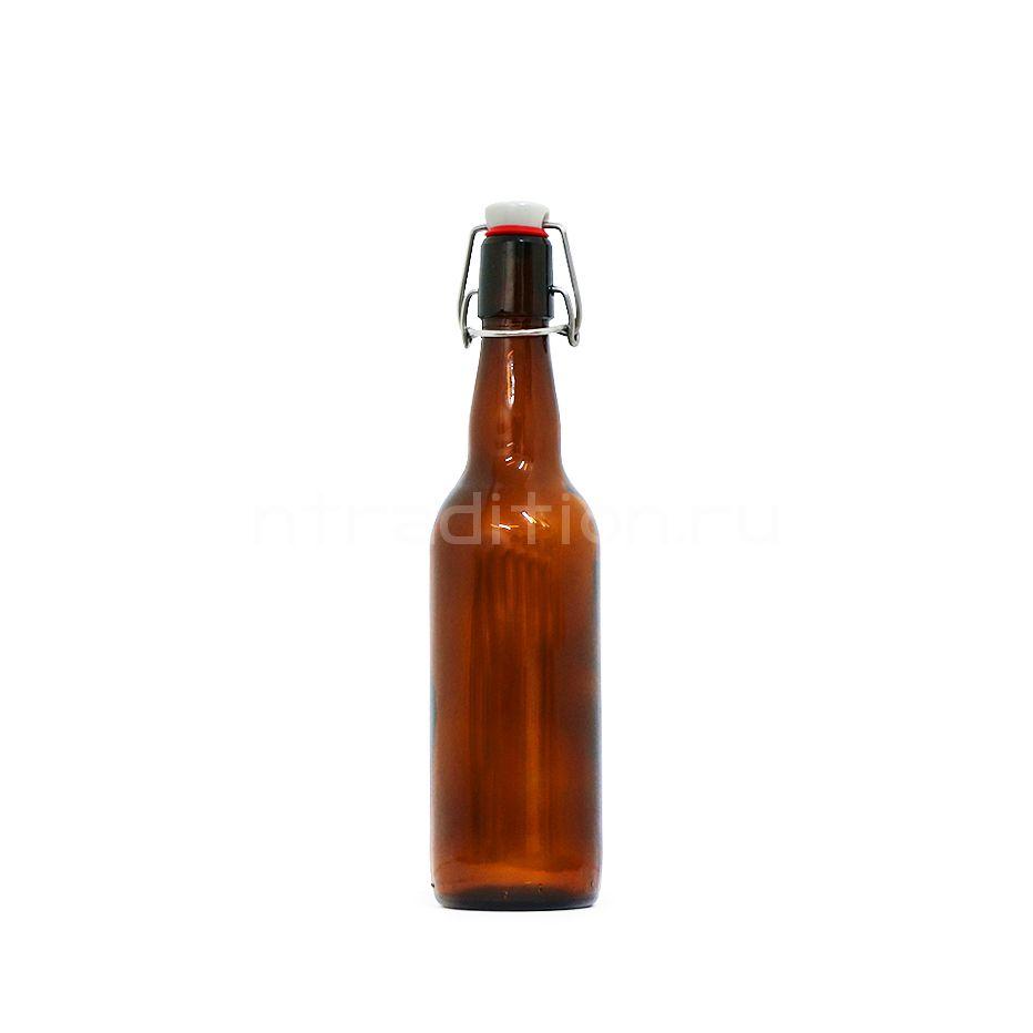 Пивная бутылка с бугельной пробкой 0,5 л