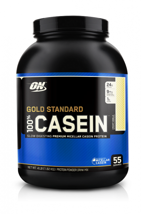 OPTIMUM NUTRITION 100% Casein Protein 4 lb (1,82кг.) - Creamy Vanilla - ваниль скл2 1-2 дня
