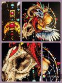Схема для вышивки крестом Ловец снов - Лев1. Отшив