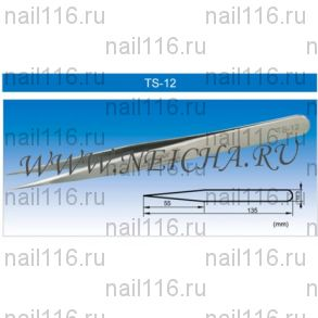 "Пинцет NEICHA (VETUS) Тип ""TS-12"" прямой"