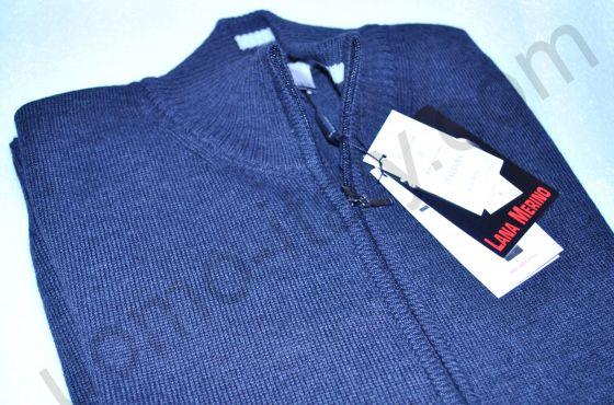 Джемпер Giorgio Porta джинсовый цвет , полностью на молнии.