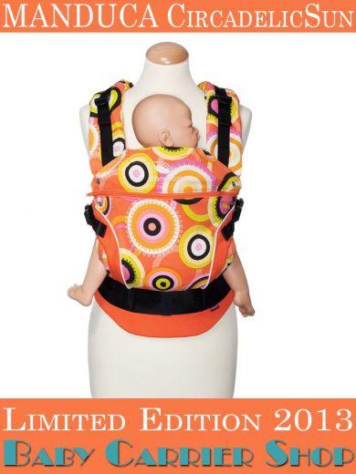 Слинг-рюкзак MANDUCA Baby And Child Carrier Эргорюкзак для переноски малышей «CircadelicSun LimitedEditions» [Мандука слингорюкзак Солнце]