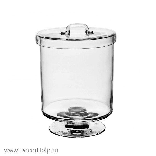 Ваза конфетница цилиндр с крышкой арт: PСB045