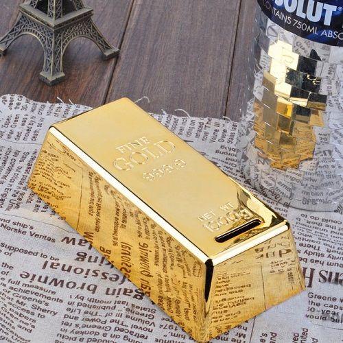 Копилка золотой слиток Gold Bullion