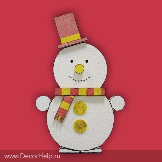 """Новогоднее украшение фигурка """"Снеговик"""""""