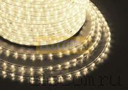 Дюралайт светодиодный, постоянное свечение(2W), тепло-белый, 220В, диаметр 13 мм, бухта 100м, NEON-NIGHT