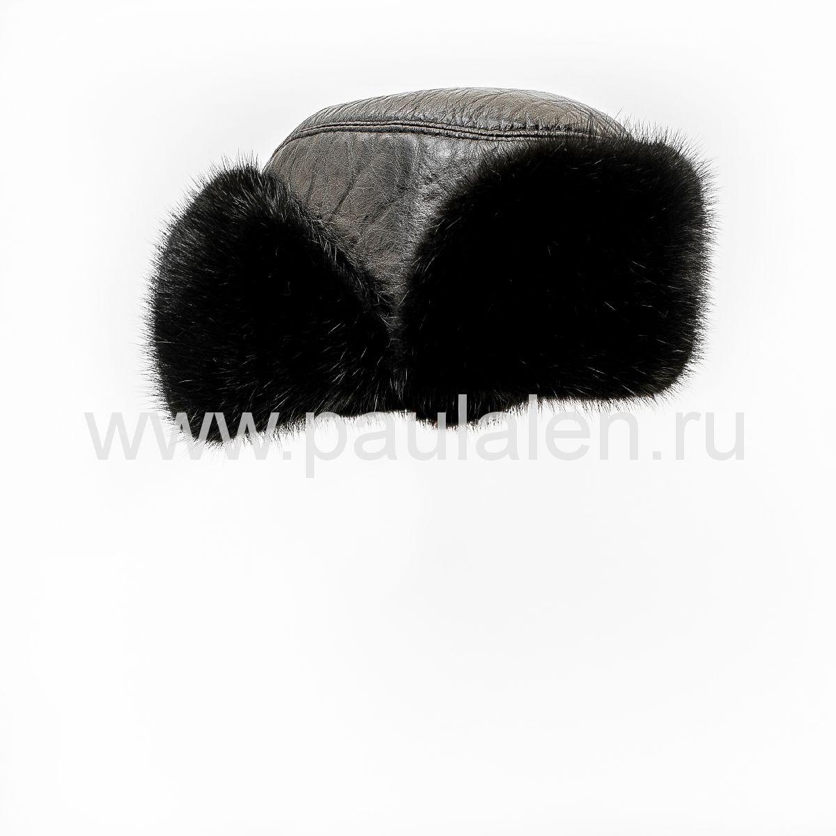 шапка ушанка из норки