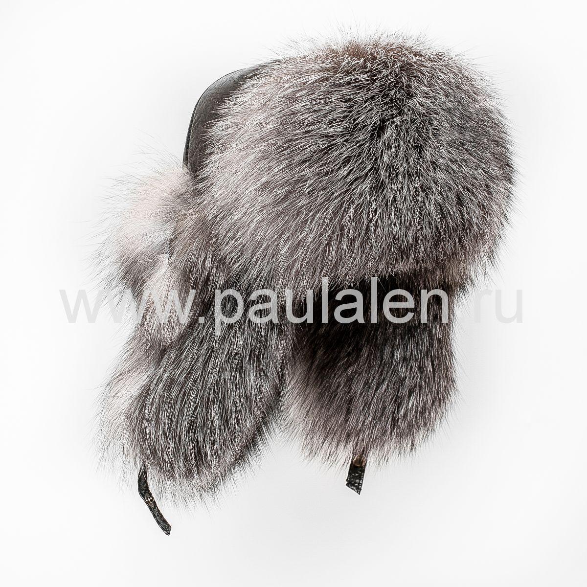 Женская шапка ушанка из меха лисы Блюфрост (Blue frost fox) A027