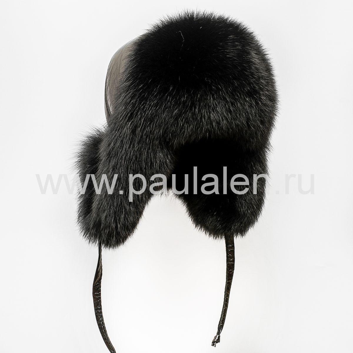 Меховая женская шапка ушанка из меха песца