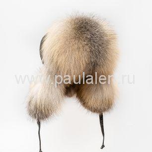 Женская шапка ушанка из меха лисы Golden Island Fox A010