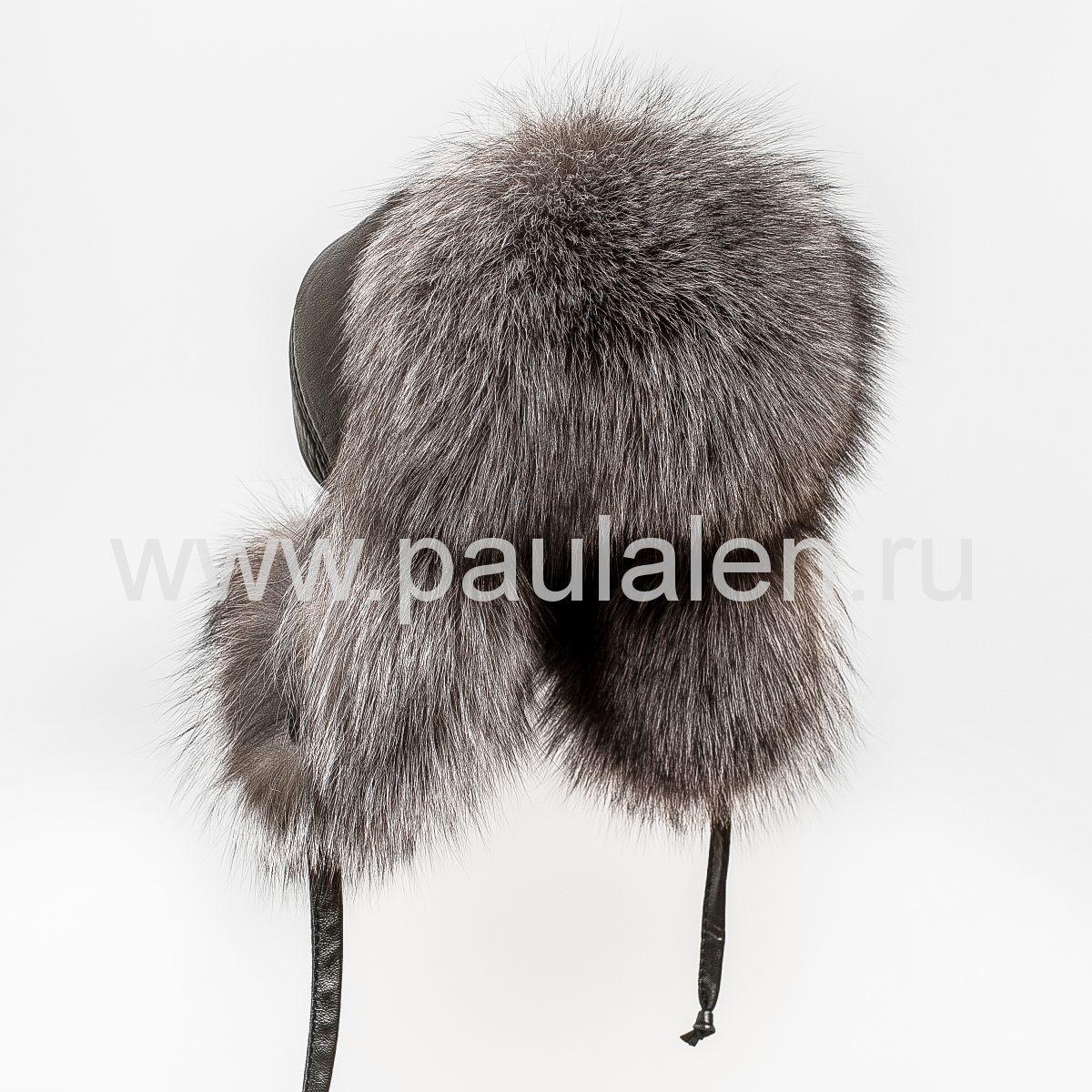 Женская шапка ушанка из меха лисы Блюфрост (Blue frost fox) A005
