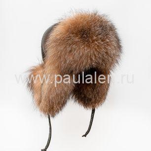 Женская шапка ушанка из меха лисы Блюфрост (Bluefrost) A004