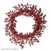 Венок с ягодами искусственный, 45см