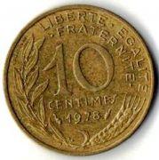 10 сентим. Франция. 1978 год.
