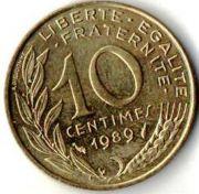 10 сентим. Франция. 1989 год.