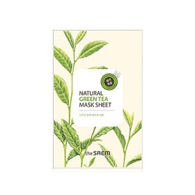 The saem Natural Green Tea Mask Sheet - Маска тканевая с экстрактом зеленого чая