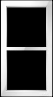 """Двухпостовая вертикальная  рамка белая CGSS """"Практика"""" PL-VP102-WCG"""