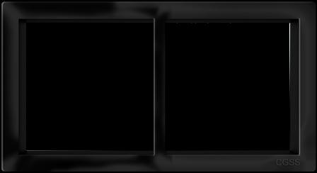 """Двухпостовая рамка черная матовая CGSS """"Практика"""" PL-P102-BCM"""