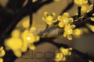 """Светодиодное дерево """"Сакура"""", высота 2,4м, диаметр кроны 2,0м, желтые светодиоды, IP 54, понижающий трансформатор в комплекте, NEON-NIGHT"""