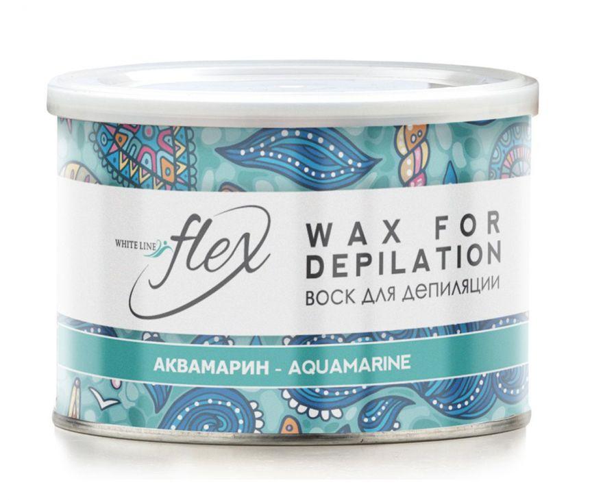 Воск в банке теплый Аквамарин Flex  400 гр.